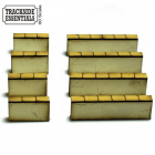 TE107 - 4Ground Building Kits - Rendered Stone Caped Wall Sections - Short