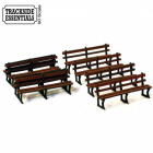 TE116 - 4Ground Building Kits - Cast iron Framed Benches x 6