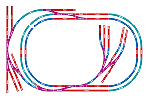 R7276 - Hornby Medium Sized Oval Layout Complete Track