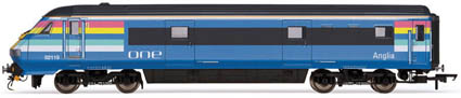 "Hornby Model Railway Coaches - R4396 - ""One"" Mk3 Driving Van Trailer DVT"