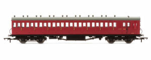 R4746A - Hornby BR 58' Maunsell Rebuilt (Ex-LSWR 48') Eight Compartment Brake Third Class Coach 'S2646' - Set 46, Maroon