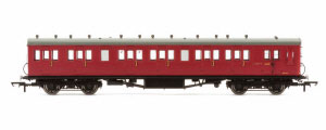 R4747A - Hornby BR 58' Maunsell Rebuilt (Ex-LSWR 48') Six Compartment Brake Third Coach 'S2627S', Maroon