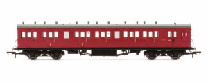R4748A - Hornby BR 58' Maunsell Rebuilt (Ex-LSWR 48') Six Compartment Brake Composite Coach 'S6405S' - Set 46, Maroon