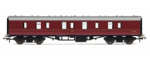 R4782 - Hornby BR Mk1 Parcels Coach 'E80627', Maroon (no crest)