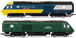 R3770 - Hornby GWR, Class 43 HST, Power Cars 43002 'Sir Kenneth Grange' and 43198 - Era 11