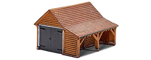R7271 - Hornby Skaledale Modern Timber Garage