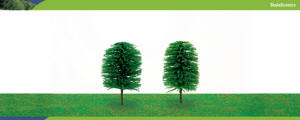 Model Railway Shop - Hornby Scalescenics - R8902 Chile Pine Trees (height 75mm) x2 - R8902