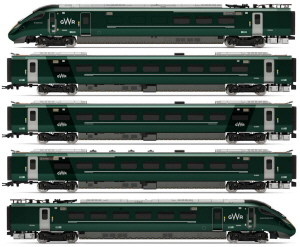 Hornby Hitachi IEP Bi-Mode Class 800/0 GWR Five Car Train Pack - R3514