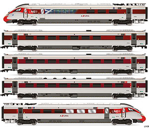 R3827 - Hornby LNER, Hitachi Class 800/1, 'Azuma' Set 800 104 'Celebrating Scotland' Train Pack - Era 11