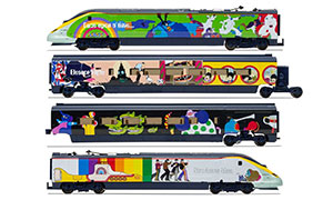 R3829 - Hornby Eurostar, Class 373, Set 3005/3006 'Yellow Submarine' Train Pack - Era 9