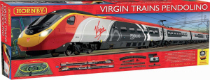 Hornby Train Set - Hornby Virgin Pendolino Train Set - R1155