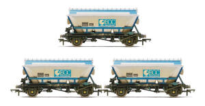 Hornby ECC Hopper Wagon (3 Pack) - Weathered - R6649