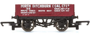 Hornby 'North Bitchburn Coal Co. Ltd' - 4 Plank Wagon - R6744
