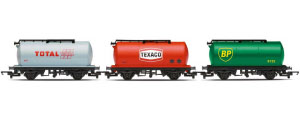 R6789 - Hornby RailRoad Fuel Tanker Triple Pack - BP, Texaco, Total