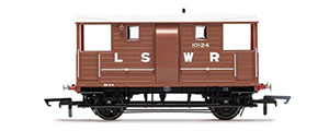 R6911B - Hornby LSWR, 20T 'New Van' Goods Brake Van, 10124 - Era 2