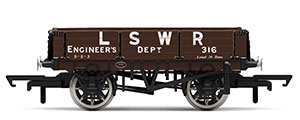 R6944 - Hornby LSWR, 3 Plank Wagon, LSWR Engineers 316 - Era 2