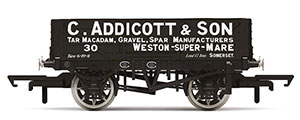 R6945 - Hornby C. Addicott & Son, 4 Plank Wagon, No. 30 - Era 2/3