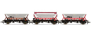 R6963 - Hornby National Wagon Preservation Group, Hopper wagons, three pack - Era 11