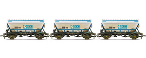 R6964 - Hornby ECC, CDA Hoppers, weathered, three pack - Era 8