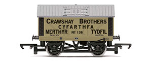 R6976 - Hornby Crawshay Brothers, 8T Lime Wagon, No. 136 - Era 2/3