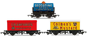 R6990 - Hornby 'Retro' Wagons, three pack, Crawfords Biscuits, Seccotine Tanker, Coleman's Mustard