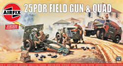 Airfix - 25pc Field Gun and Morris Quad - 1:76 (A01305V)