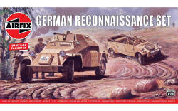 A02312V - Airfix - SD.KFZ.222 and Kubelwagen, Reconnaissance Set - 1:76