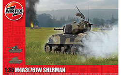 Airfix - M4A3(76)W, Battle of the Bulge - 1:35 (A1365)