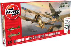 Airfix - JU87 / Gloster Gladiator Dog Fight Double Gift Set - 1:72 (A50179)