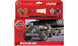 Airfix - Small Starter Set Willys MB Jeep� - 1:72 (A55117)