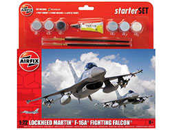 A55312 - Airfix - Large Starter Set General Dynamics F-16A� Fighting Falcon� - 1:72