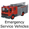 Diecast Model Emergency Service Vehicles - 1:76 OO Gauge Model Railway Fire Engines
