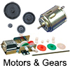 Model Railway Shop - Model Railway Electronics - Motors and Gears - Motor and gear kit. (2 in 1 gear ratio) sutable to automate model railway scenery.