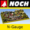 Noch N-Gauge Scenery - Figures, Laser Cut Minis, Trees, Buildings