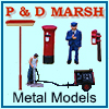 P & D Marsh - Hand Painted White Metal Castings