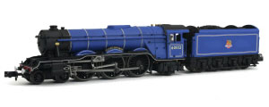 2S-011-003D - Dapol N-Gauge - A3 Flying Scotsman 60103 BR Express Blue Early Crest (DCC Fitted)