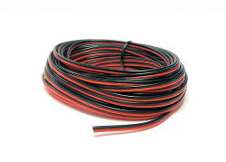 Gaugemaster - Red / Black Twinned Wire 10m - GM09RB