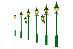 Gaugemaster Barley Twist Gas Lamp SR/BR Green (Value Pack) - GM852
