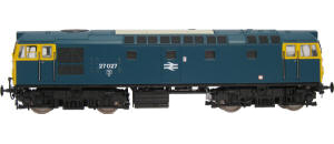 Heljan Model Railway Trains - Heljan Class 27 BR Blue (Full Yellow Ends)