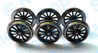 Hornby Spares - Tender Chassis Wheels - Black - X9082