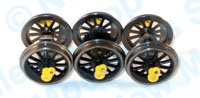 Hornby Spares - Class 08 Wheel and Axle Set - X9373