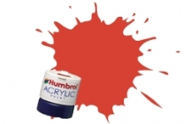 Humbrol - Signal Red Satin Acrylic Paint 12ml Tinlet - AB0174