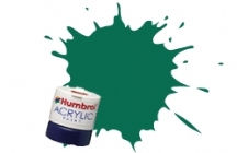 Humbrol - Dark Green Matt Acrylic Paint 12ml Tinlet - AB0030