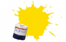 Humbrol - Yellow Gloss Acrylic Paint 12ml Tinlet - AB0069