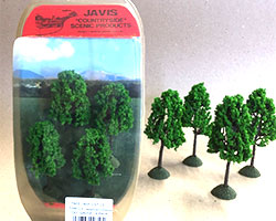 CST13 - Javis Countryside Trees 4x 100mm (OO Scale)