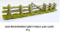 Javis - PF5 - Old Weathered Fencing Grey with Gate