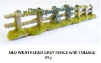 Javis - PF7 - Old Weathered Fencing Grey with Foliage
