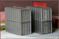 Knightwing Model Railway Plastic Kits - Int Containers 4x 20ft - KWH7