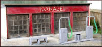 Knightwing Model Railway Plastic Kits - Garage Service Bay - PM109