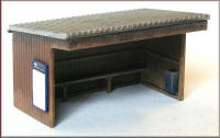 Knightwing Model Railway Plastic Kits - Station Halt Corrugate - PM111
